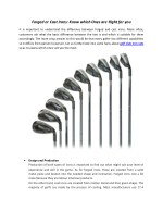 Facts About Golf Club Iron Sets