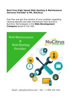 Complete Web Maintenance & Best Free High Speed Web Hosting Services in PA, NuCitrus