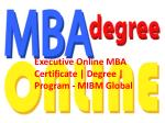 Executive Online MBA Certificate | Degree | Program like an online MBA