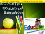 WRITING GUIDELINES / TUTORIALOUTLET DOT COM