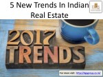5 New Trends In Indian Real Estate