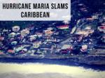 Hurricane Maria churning through the Caribbean