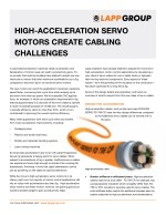 HIGH-ACCELERATION SERVO MOTORS CREATE CABLING CHALLENGES