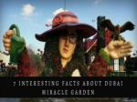 7 Interesting facts about Dubai miracle garden