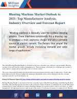 Blasting Machine Market Outlook to 2021: Top Manufacturer Analysis, Industry Overview and Forecast Report