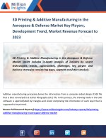 3D Printing & Additive Manufacturing in the Aerospace & Defence Market Region, Applications, Types, and Market Consumpti