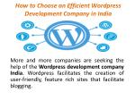 How to Choose an Efficient Wordpress Development Company in India