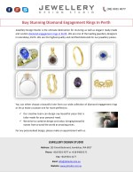 Buy Stunning Diamond Engagement Rings In Perth