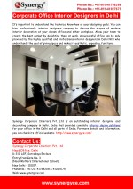 Interior Designers In Delhi- All-In-One Solution For your Office