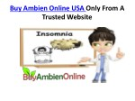 Buy Ambien Online USA Only From A Trusted Website