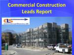 Commercial Construction Leads Report