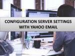 Server Configuration Error with Yahoo mail