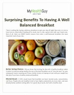 Surprising Benefits To Having A Well-Balanced Breakfast