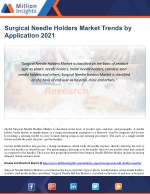 Surgical Needle Holders Market Trends by Application 2021