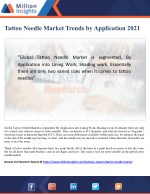 Tattoo Needle Market Trends by Application 2021