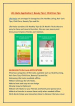 Life Hacks - Healthy Living,  Beauty Tips, Child Care Tips