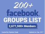 200  Facebook Groups (Updated Social Media Groups List) 2017
