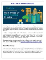 Main Types of Web Hosting in India