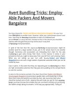 Avert Bundling Tricks: Employ Able Packers And Movers Bangalore