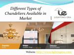 Different Types of Chandeliers Available in Market