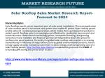 Solar Rooftop Sales Market Research Report- Forecast to 2023