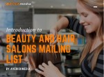 Beauty and Hair Salons Mailing List