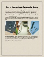 Know about composite doors
