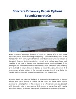 Concrete Driveway Repair Options: SoundConcreteCo