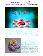 How to Buy Diwali Decoration Online