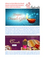 Where to Find Offers for Diwali Sweets and Dryfruits Hampers Online with Free Delivery