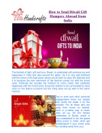 How to Send Diwali Gift Hampers Abroad from India