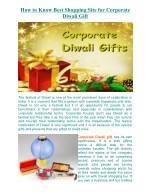 How to Know Best Shopping Site for Corporate Diwali Gift