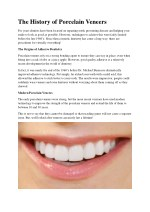 The History of Porcelain Veneers