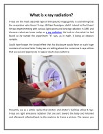 What is x ray radiation?