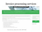 How outsourced invoice processing helps your business operations?