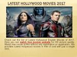 Latest Hollywood Movies 2017