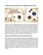 Guide To Buy Sterling Silver in Wholesale Like A Pro