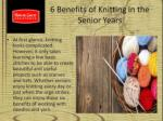 6 Benefits of Knitting in the Senior Years