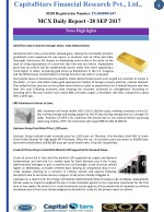 Mcx daily report - 28 Sep 2017