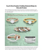 Top 10 Most Popular Wedding Diamond Rings for Women and Men