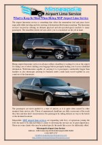 What to Keep In Mind When Hiring MSP Airport Limo Service