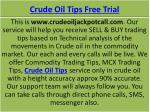 Crude Oil Trading Tips service with High Accuracy