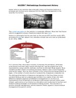 KAIZEN™ Methodology Development History
