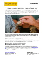 Make A Donation -- Get Income Tax Relief Under 80G
