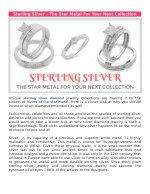 Sterling Silver – The Star Metal For Your Next Collection