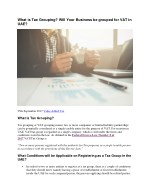 What is Tax Grouping? Will Your Business be Grouped for VAT in UAE?
