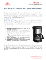 What Are The Key Features Of Best Coffee Making Machines