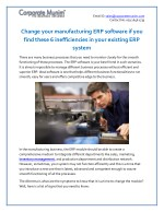 Change your manufacturing ERP software