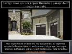 Garage door opener repair Burnaby | garage door repair Burnaby
