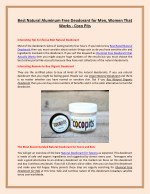Best Natural Aluminum Free Deodorant for Men, Women That Works - Coco Pits